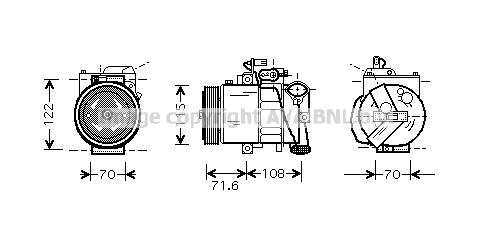 Compresseur AVA QUALITY COOLING VNK257 (X1)