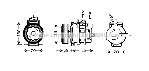 Compresseur AVA QUALITY COOLING VNK265 (X1)