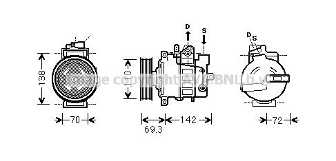 Compresseur AVA QUALITY COOLING VNK318 (X1)