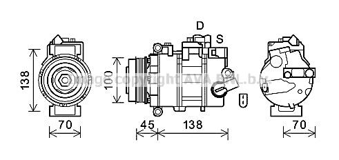 Compresseur AVA QUALITY COOLING VNK384 (X1)