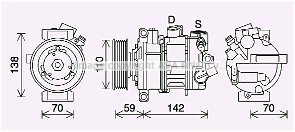 Compresseur AVA QUALITY COOLING VNK401 (X1)