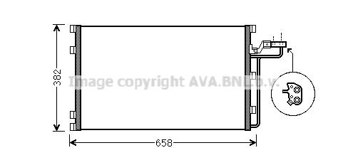 Condenseur / Radiateur de climatisation AVA QUALITY COOLING VO5139 (X1)