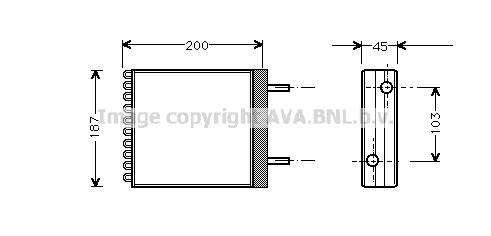 Radiateur de chauffage AVA QUALITY COOLING VO6066 (X1)
