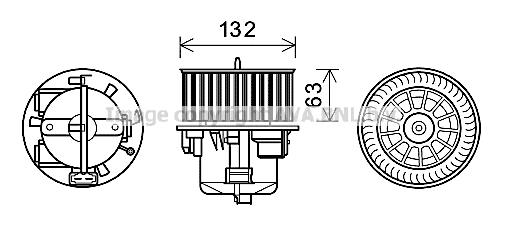 Moteur de ventilateur de chauffage AVA QUALITY COOLING VO8179 (X1)