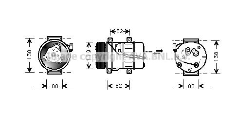 Compresseur AVA QUALITY COOLING VOK054 (X1)
