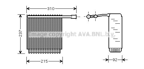 Evaporateur AVA QUALITY COOLING VOV125 (X1)
