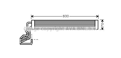 Radiateur de direction AVA QUALITY COOLING VW3264 (X1)