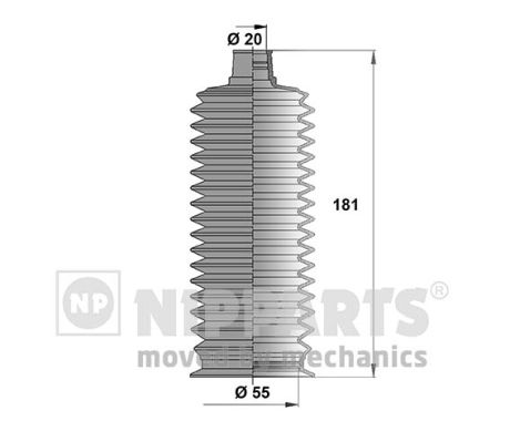 Joints soufflets direction - crémaillère NIPPARTS J2842026 (X1)
