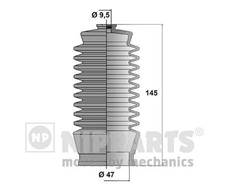 Joints soufflets direction - crémaillère NIPPARTS J2852002 (X1)