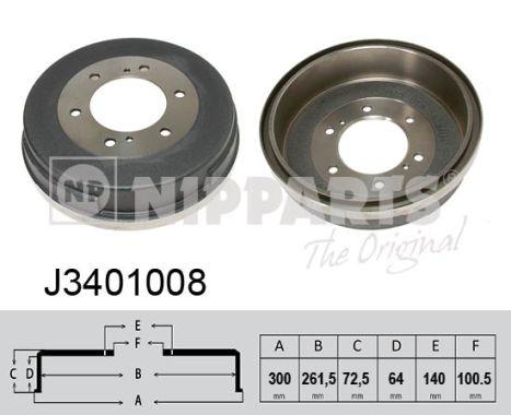 Tambour de frein arriere NIPPARTS J3401008 (X1)