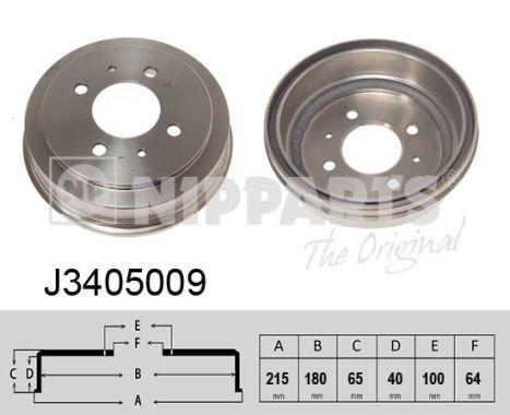 Tambour de frein arriere NIPPARTS J3405009 (X1)