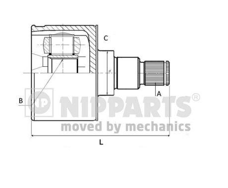 Joints spi/homocinetiques NIPPARTS N2831003 (X1)
