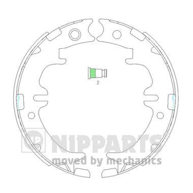 Jeu de mâchoires de frein de frein à main NIPPARTS N3502083 (X1)