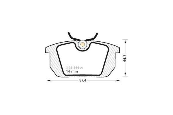 Plaquettes de frein arriere MGA 245 (Jeu de 4)