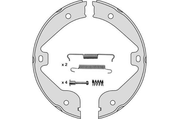 Jeu de mâchoires de frein de frein à main MGA M854R (X1)