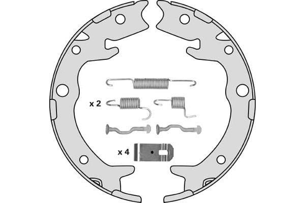 Jeu de mâchoires de frein de frein à main MGA M867R (X1)