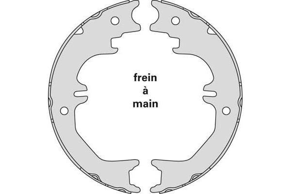 Jeu de mâchoires de frein de frein à main MGA M903 (X1)