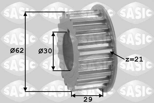 Pignon de vilebrequin SASIC 1600001 (X1)
