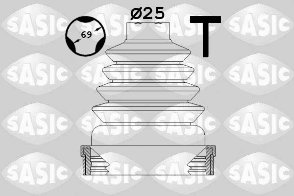 Soufflet de cardan SASIC 1904023 (X1)