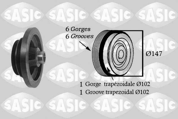 Poulie damper/vilebrequin SASIC 2156060 (X1)