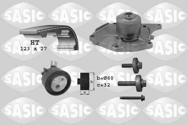 Kit distribution + pompe a eau SASIC 3904022 (X1)