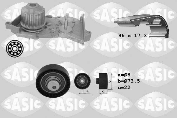 Kit distribution + pompe a eau SASIC 3904026 (X1)