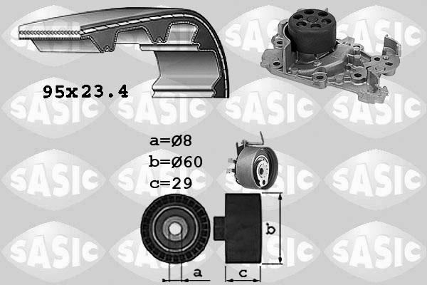 Kit distribution + pompe a eau SASIC 3904029 (X1)
