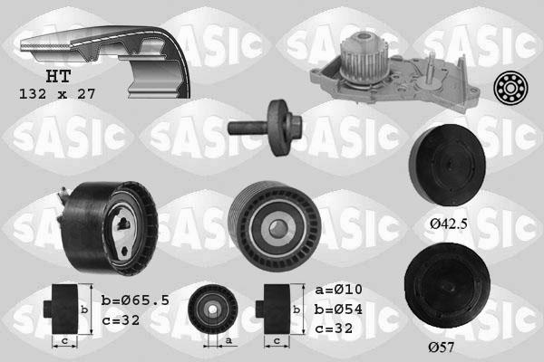 Kit distribution + pompe a eau SASIC 3904035 (X1)