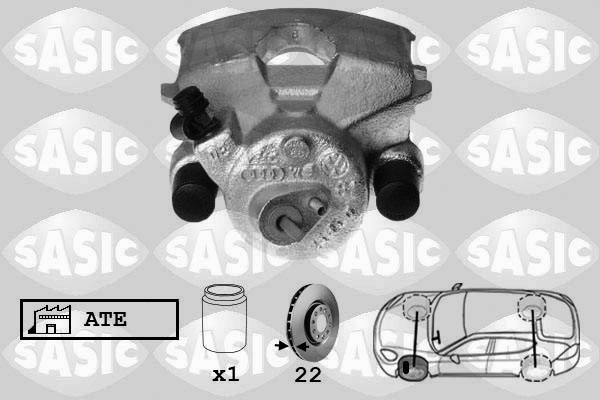 Étrier de frein SASIC 6506004 (X1)