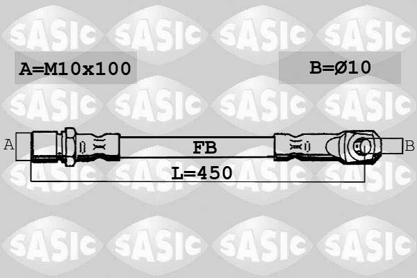 Flexible de frein SASIC 6606015 (X1)