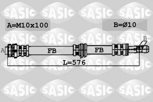 Flexible de frein SASIC 6606064 (X1)