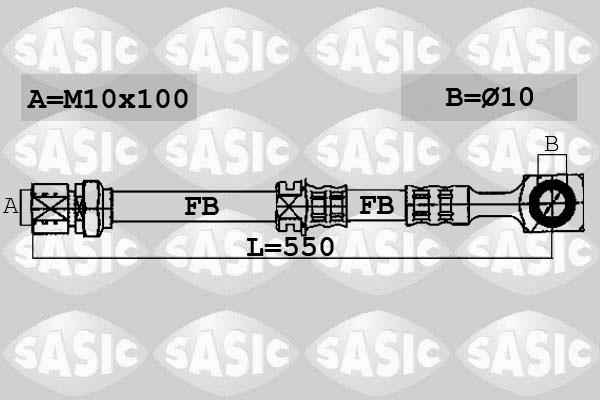 Flexible de frein SASIC 6606099 (X1)