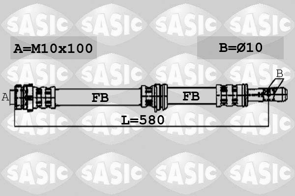 Flexible de frein SASIC 6606133 (X1)