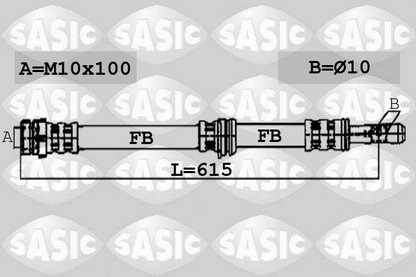 Flexible de frein SASIC 6606248 (X1)