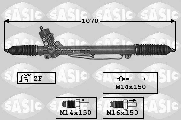 Cremaillere de direction SASIC 7006004 (X1)