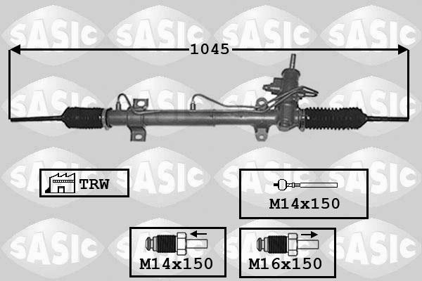 Cremaillere de direction SASIC 7006044 (X1)