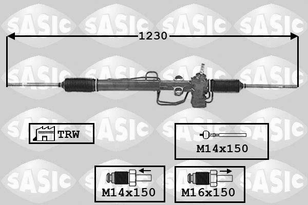 Cremaillere de direction SASIC 7006125 (X1)