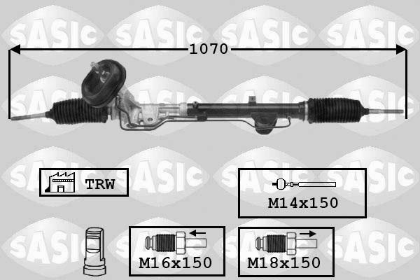 Cremaillere de direction SASIC 7174027 (X1)