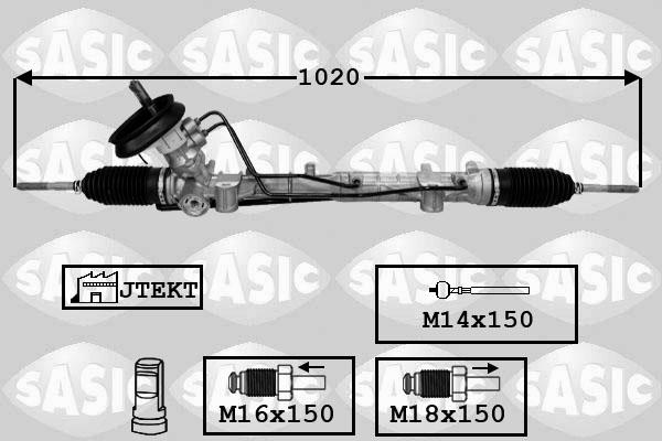 Cremaillere de direction SASIC 7174029 (X1)