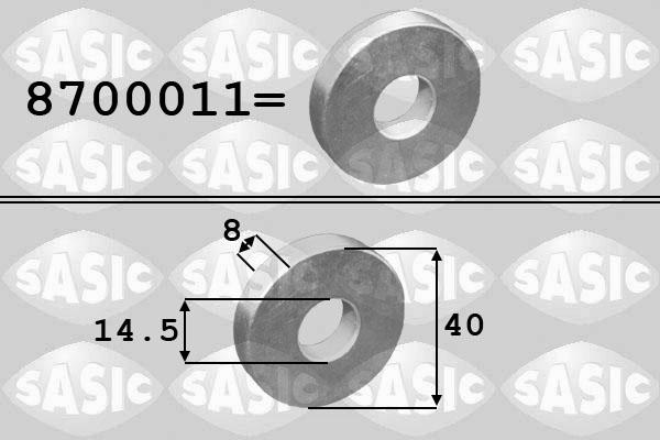 Rondelle de poulie SASIC 8700011 (X1)