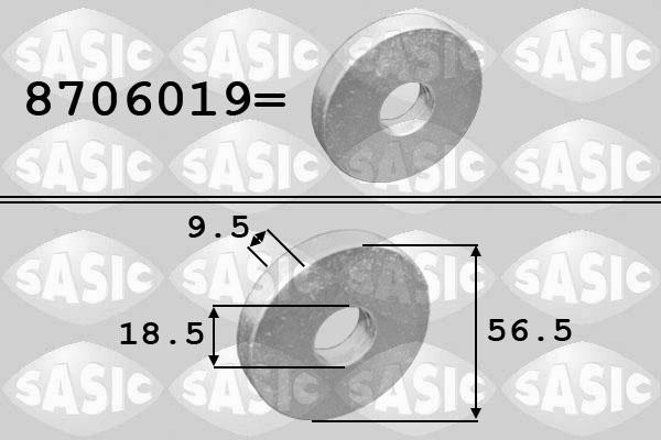 Rondelle de poulie SASIC 8706019 (X1)
