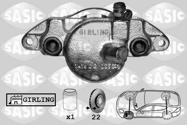 Étrier de frein SASIC SCA6162 (X1)