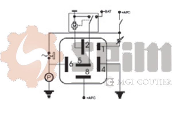 Relais, intervalle d'essuyage SEIM 105370 (X1)
