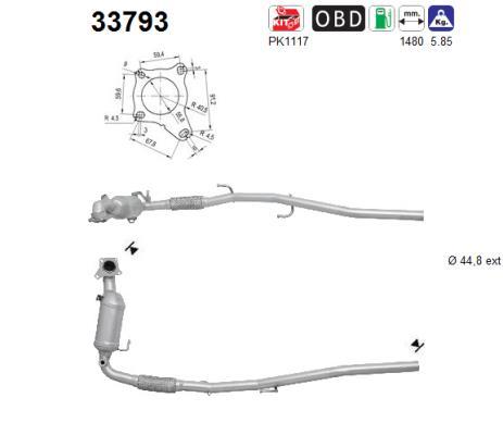 Catalyseur AS 33793 (X1)