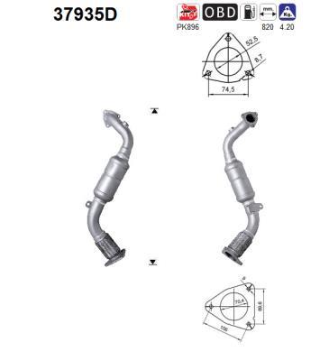 Catalyseur AS 37935D (X1)