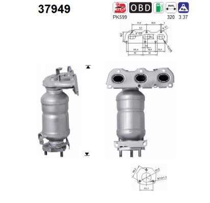 Catalyseur AS 37949 (X1)