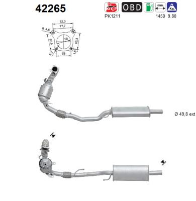Catalyseur AS 42265 (X1)