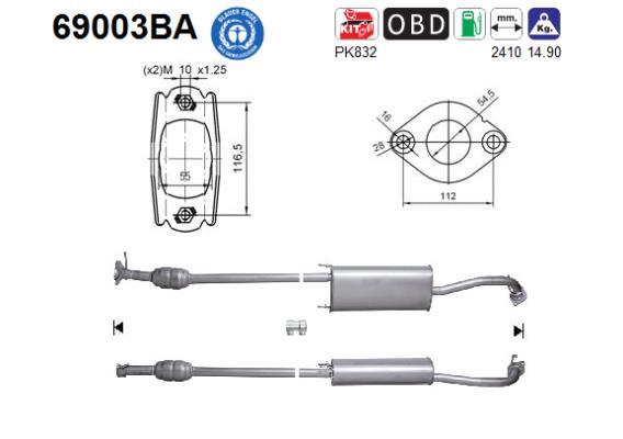 Catalyseur AS 69003BA (X1)