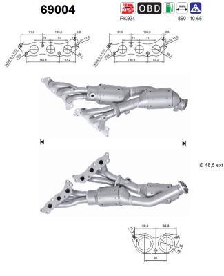 Catalyseur AS 69004 (X1)