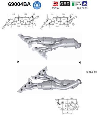 Catalyseur AS 69004BA (X1)